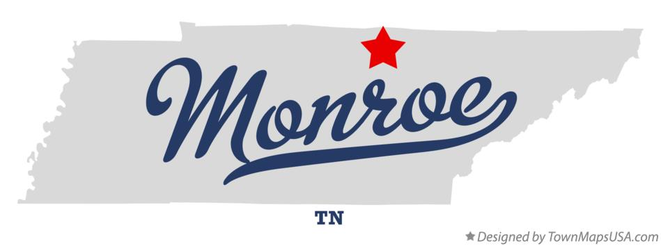Map of Monroe Tennessee TN