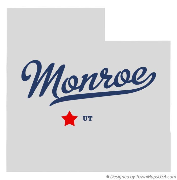 Map Of Monroe Ut Utah