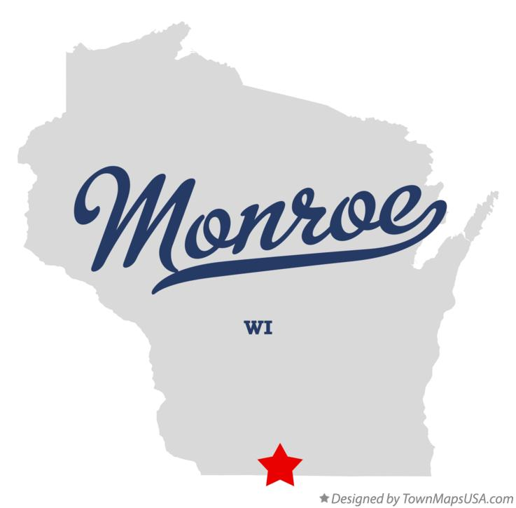 Map of Monroe Wisconsin WI