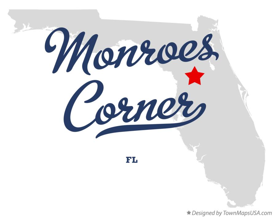 Map of Monroes Corner Florida FL