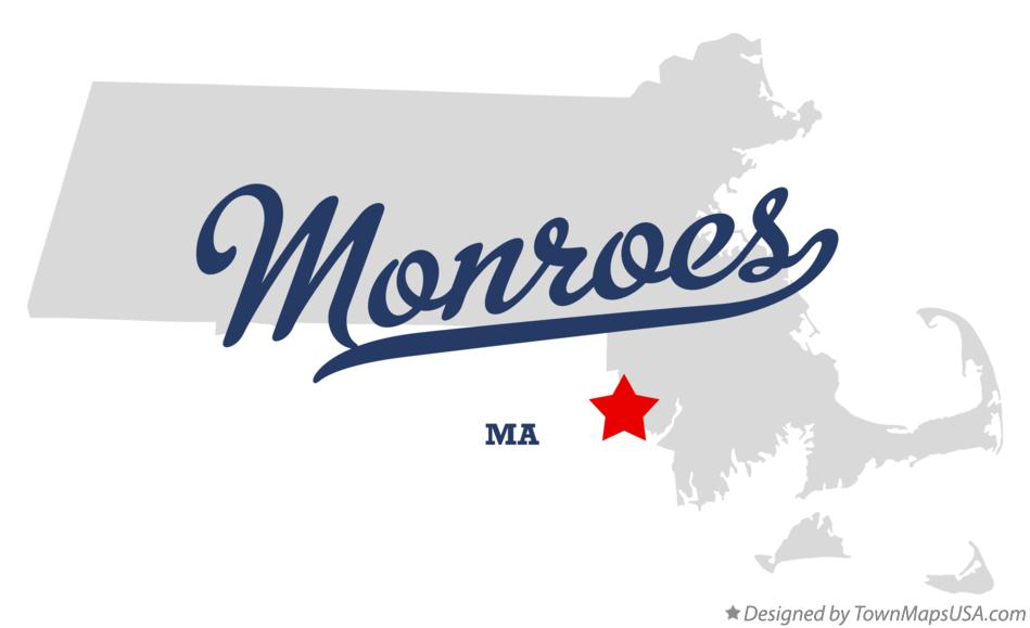 Map of Monroes Massachusetts MA