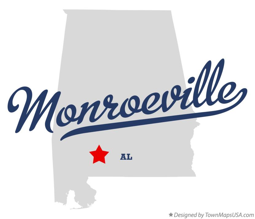 Map of Monroeville Alabama AL
