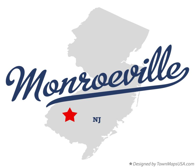 Map of Monroeville New Jersey NJ
