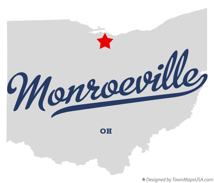 Map of Monroeville Ohio OH