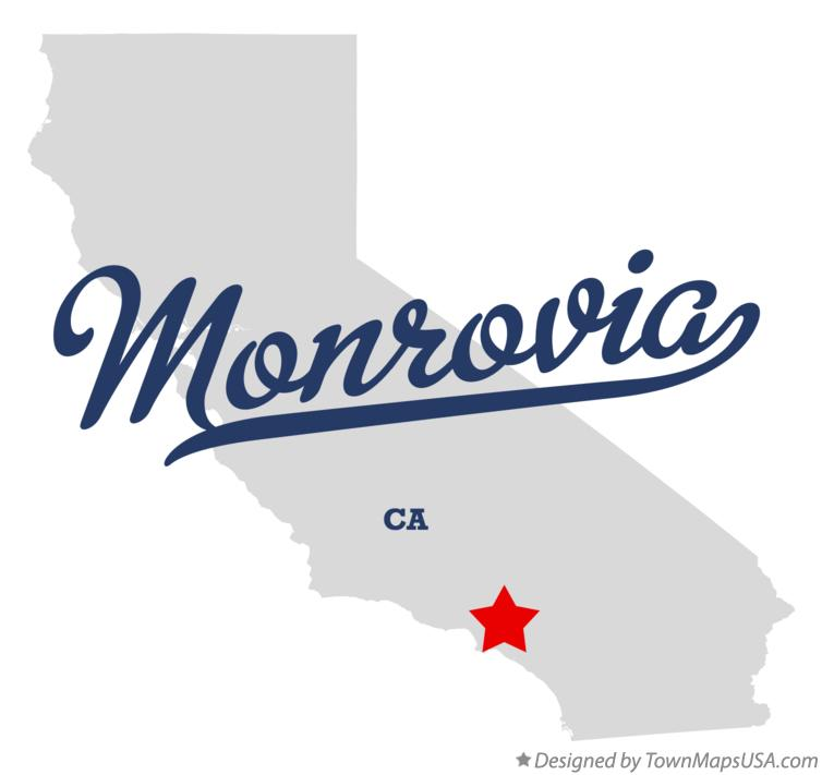 Map of Monrovia California CA