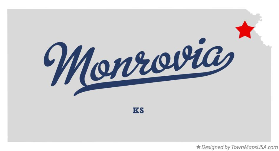 Map of Monrovia Kansas KS