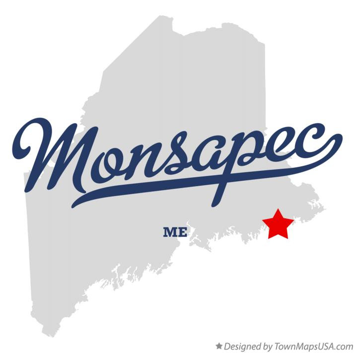 Map of Monsapec Maine ME