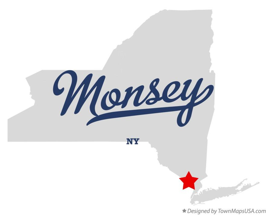 Map of Monsey New York NY