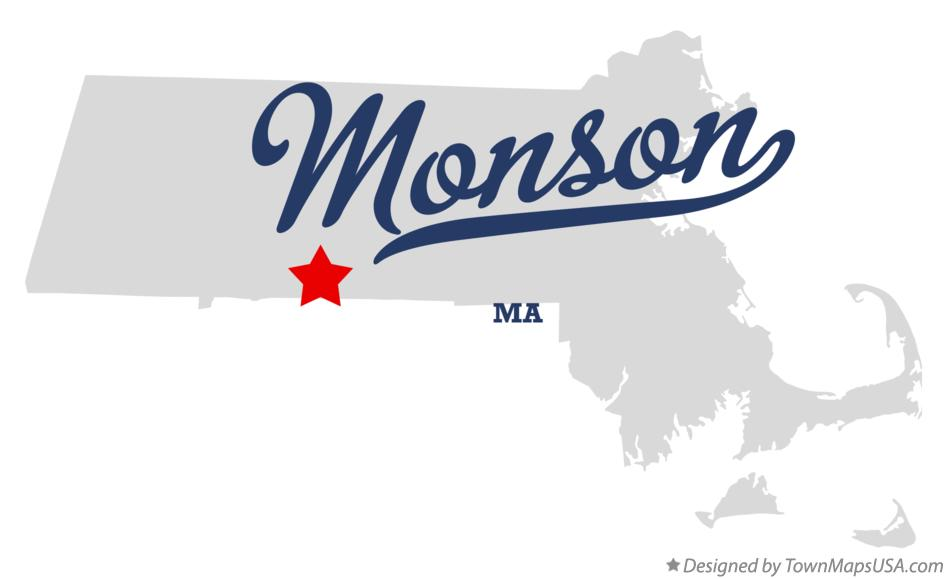 Map of Monson Massachusetts MA