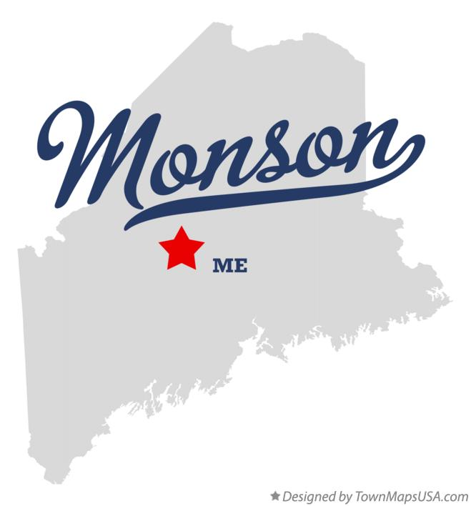 Map of Monson Maine ME