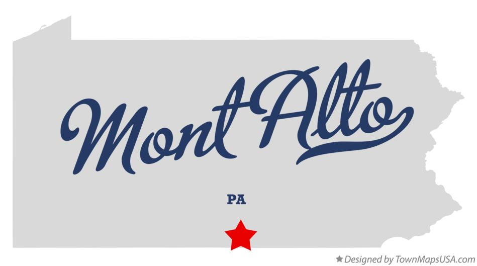 Map of Mont Alto Pennsylvania PA