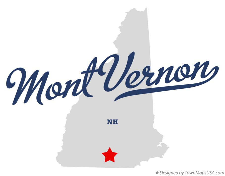 Map of Mont Vernon New Hampshire NH