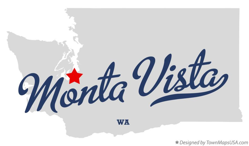 Map of Monta Vista Washington WA