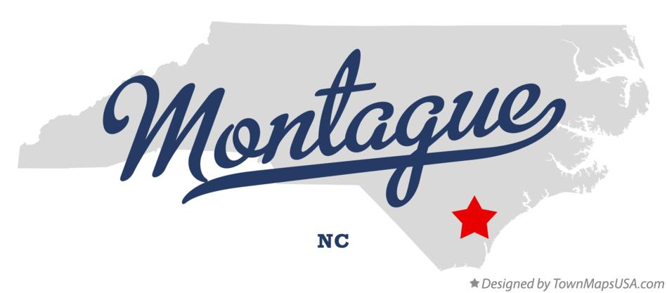 Map of Montague North Carolina NC