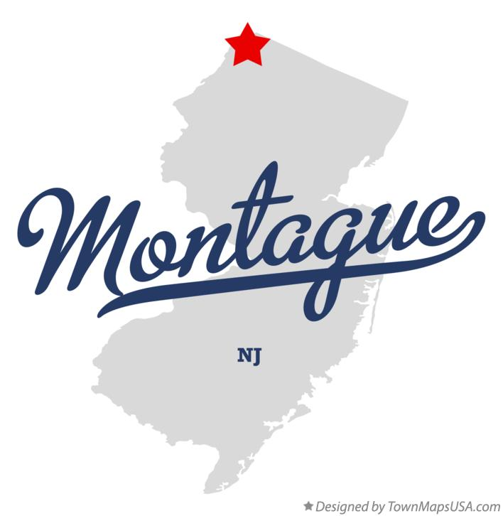 Map of Montague New Jersey NJ