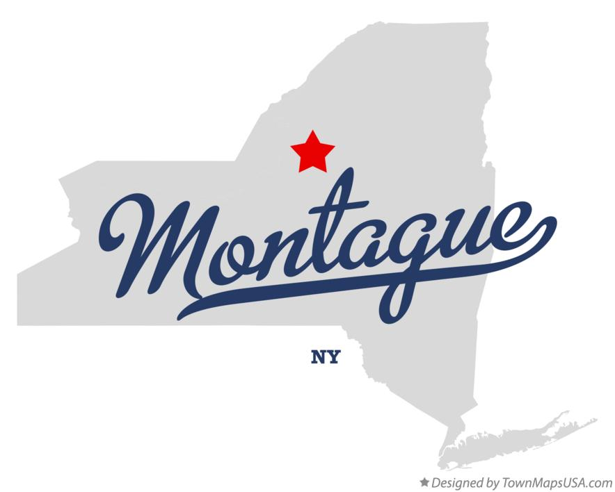 Map of Montague New York NY