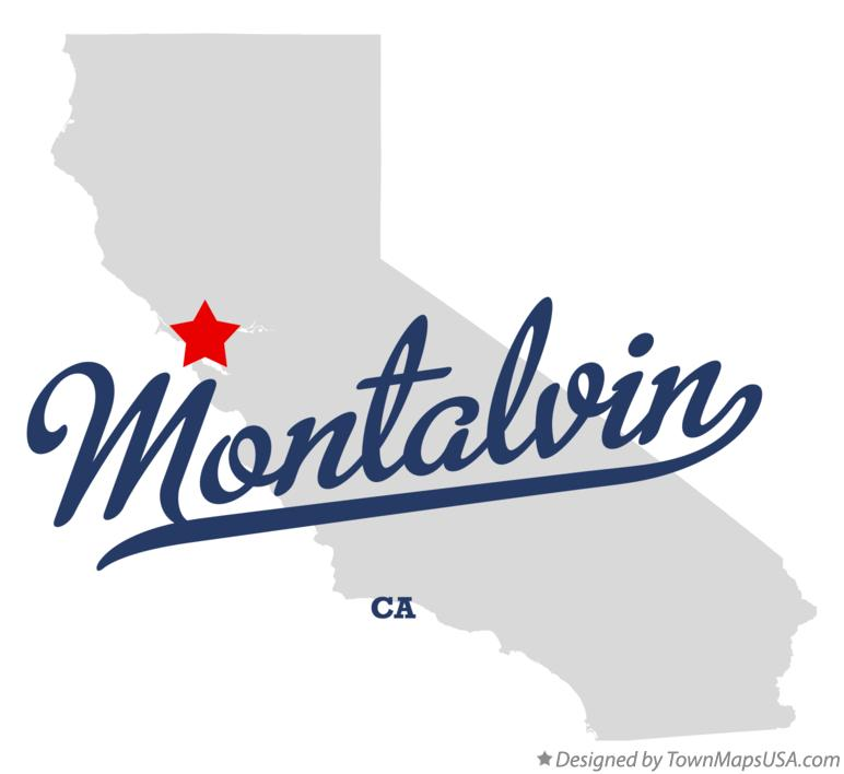Map of Montalvin California CA