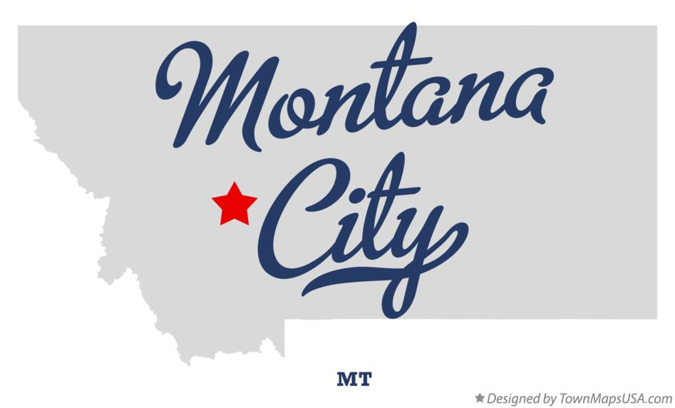 Map of Montana City Montana MT