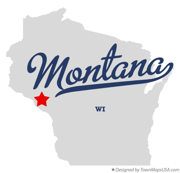 Map of Montana Wisconsin WI