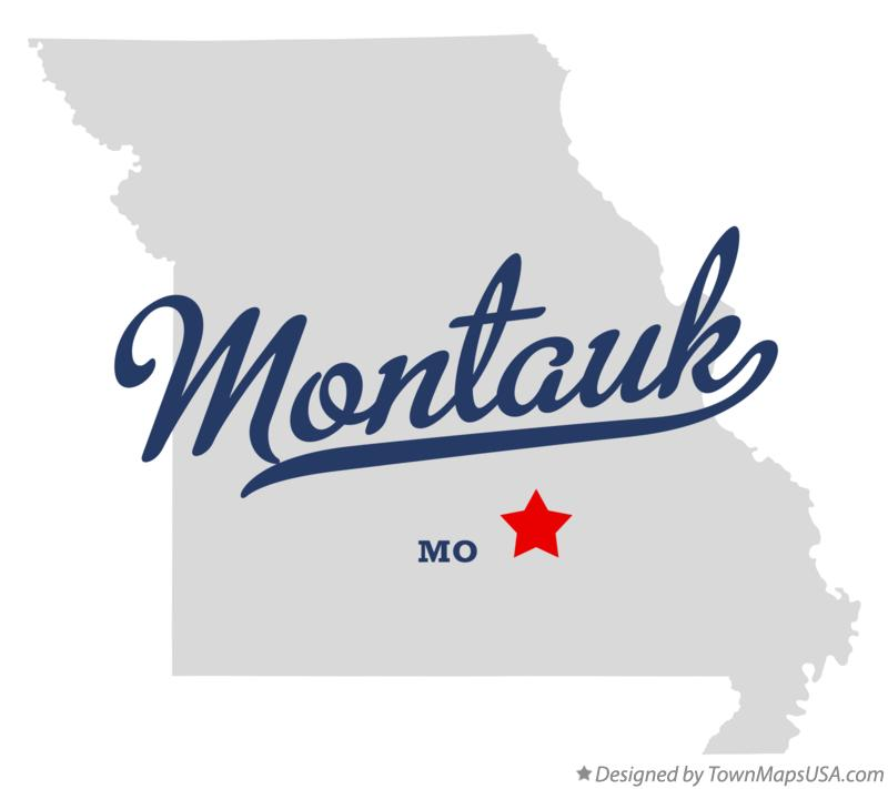 Map of Montauk Missouri MO