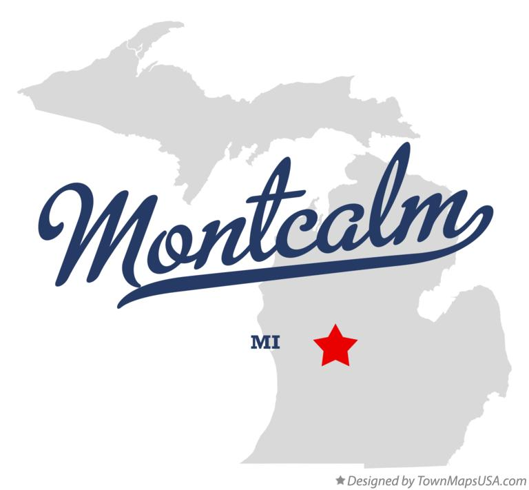 Map of Montcalm Michigan MI
