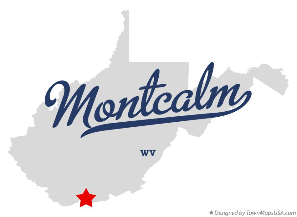 Map of Montcalm West Virginia WV