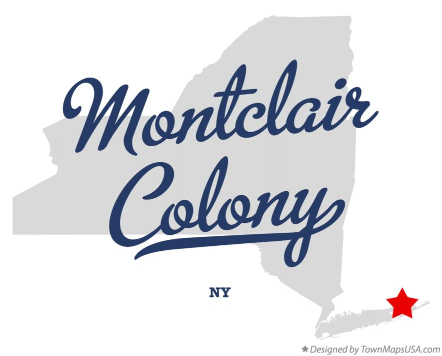 Map of Montclair Colony New York NY