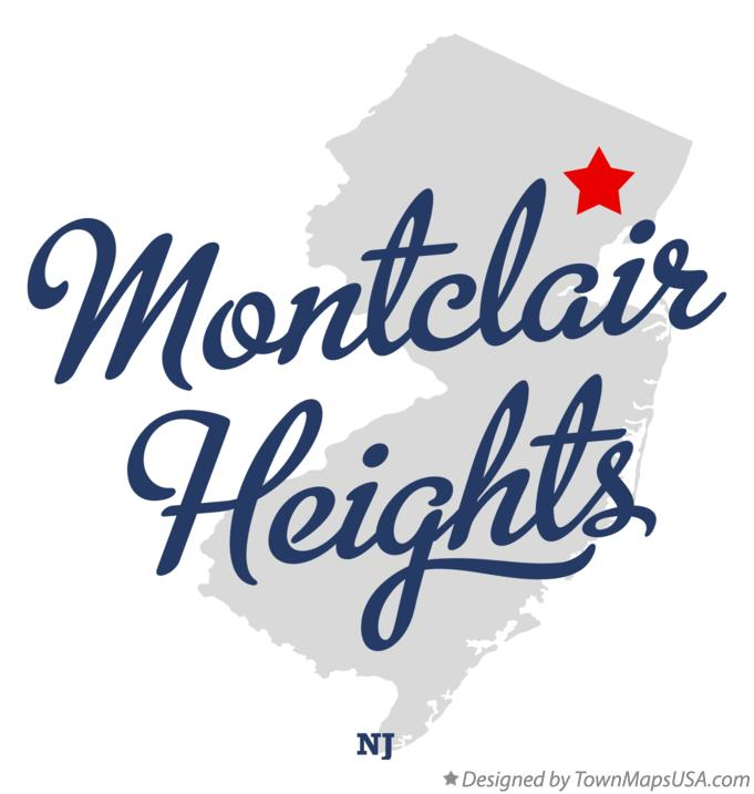Map of Montclair Heights New Jersey NJ
