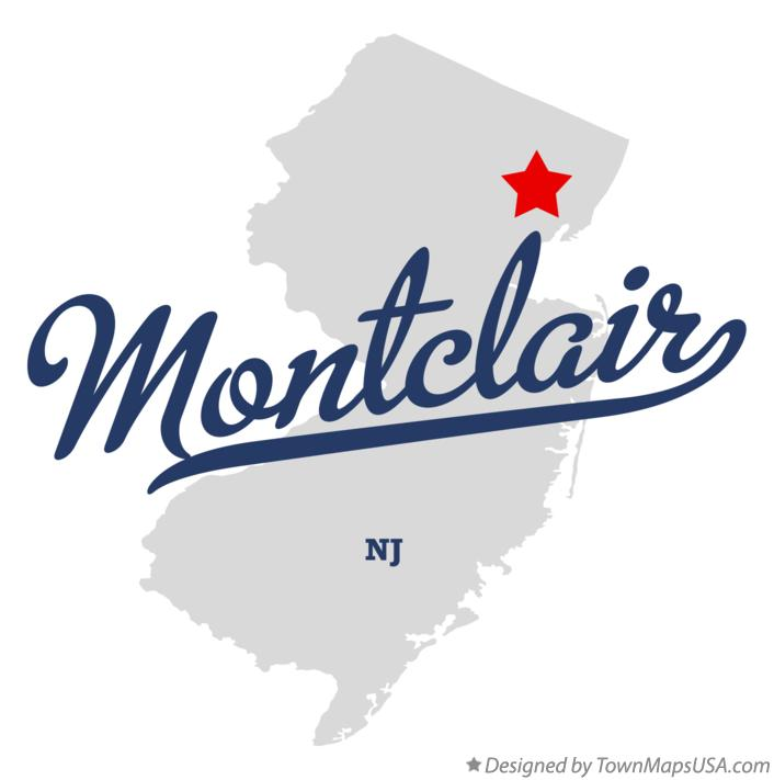 Map of Montclair New Jersey NJ