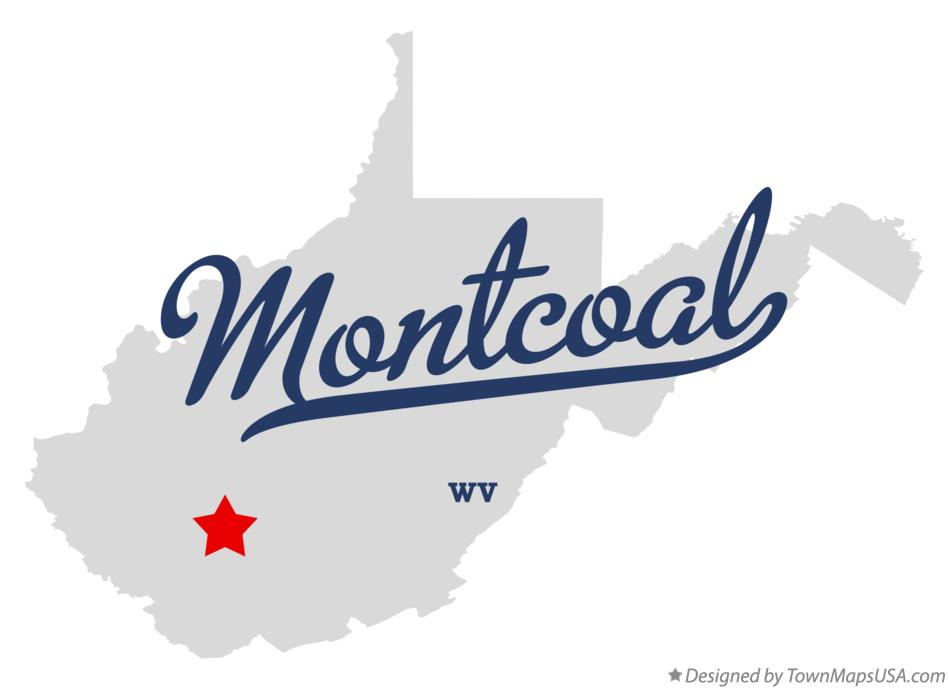 Map of Montcoal West Virginia WV