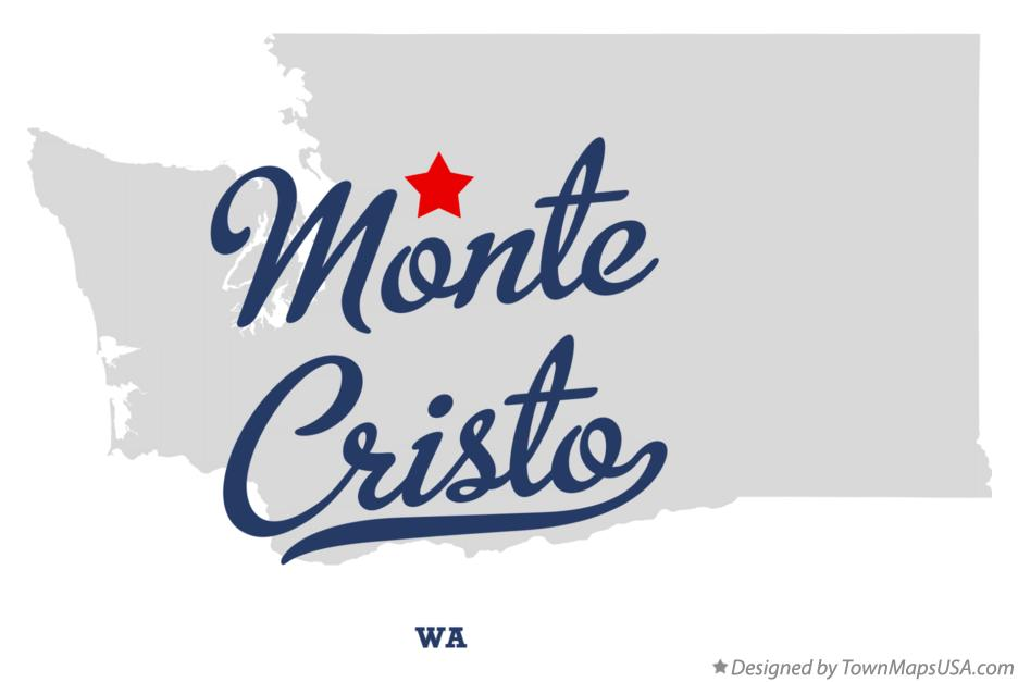 Map of Monte Cristo Washington WA