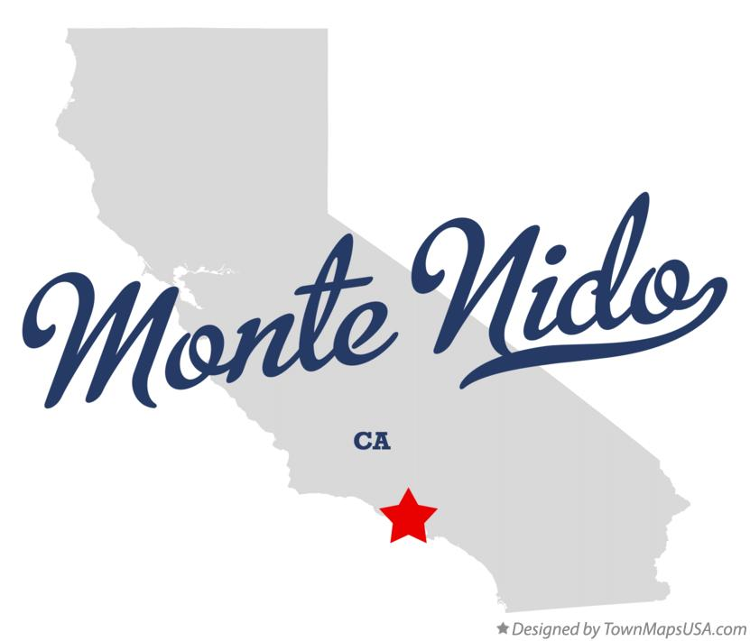 Map of Monte Nido California CA