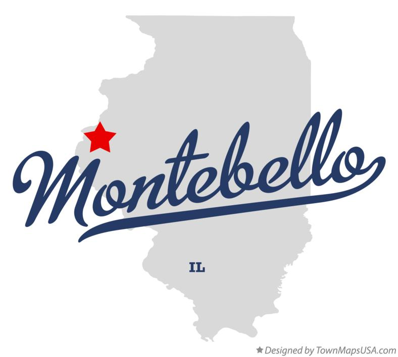 Map of Montebello Illinois IL