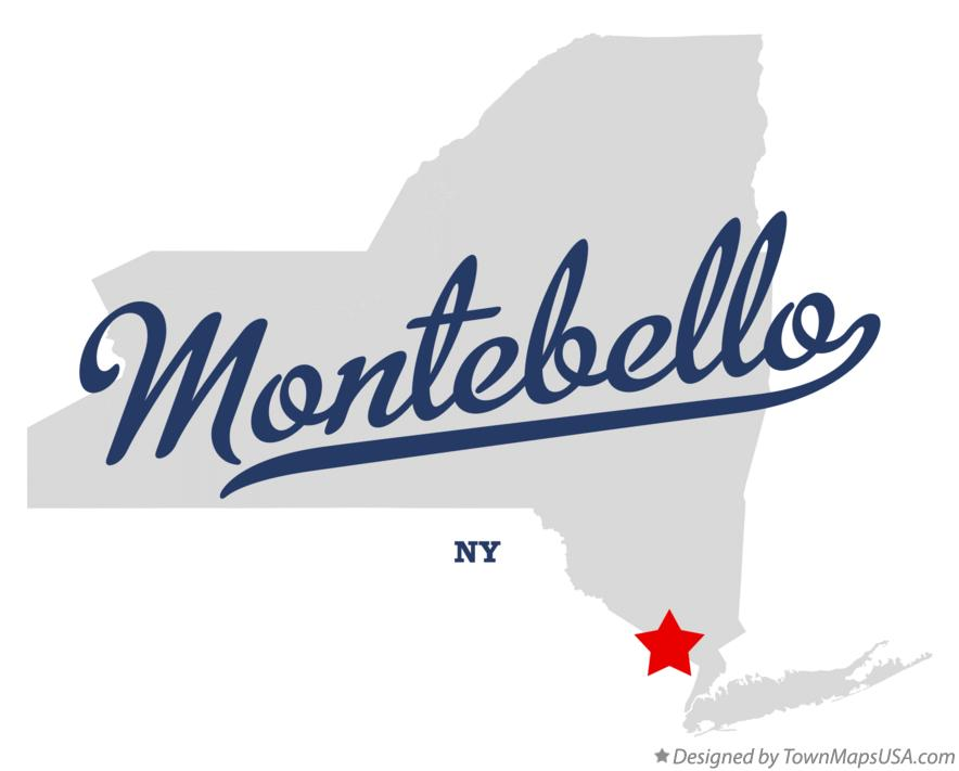 Map of Montebello New York NY