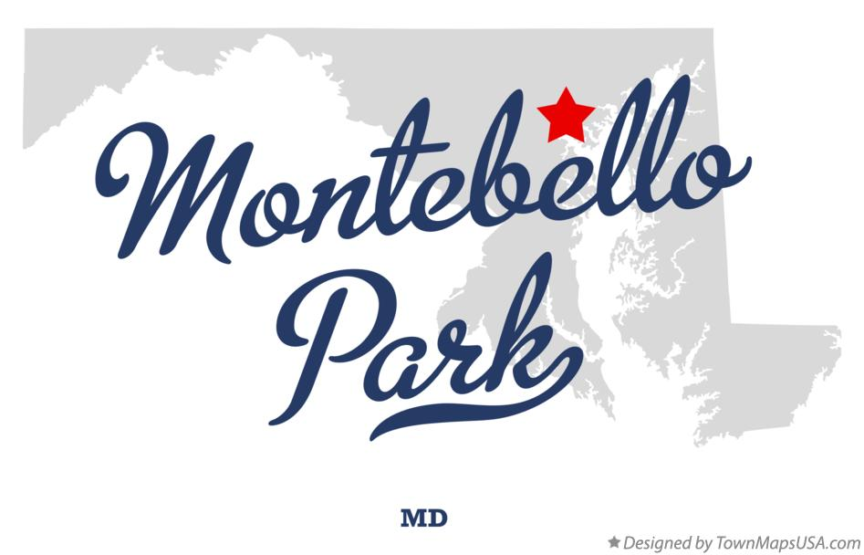 Map of Montebello Park Maryland MD