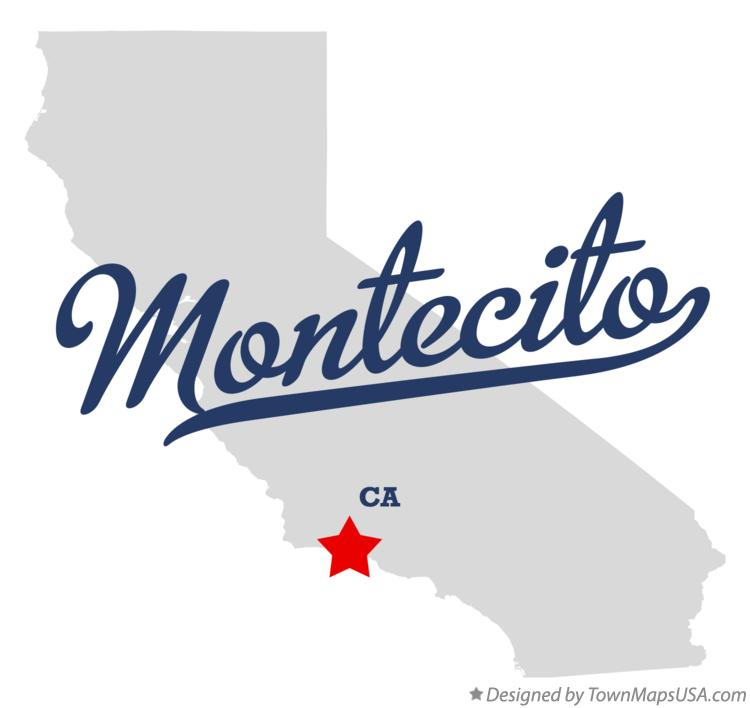 Map of Montecito California CA