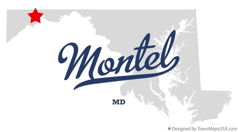 Map of Montel Maryland MD