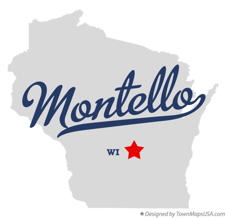 Map of Montello Wisconsin WI