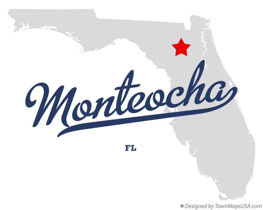 Map of Monteocha Florida FL