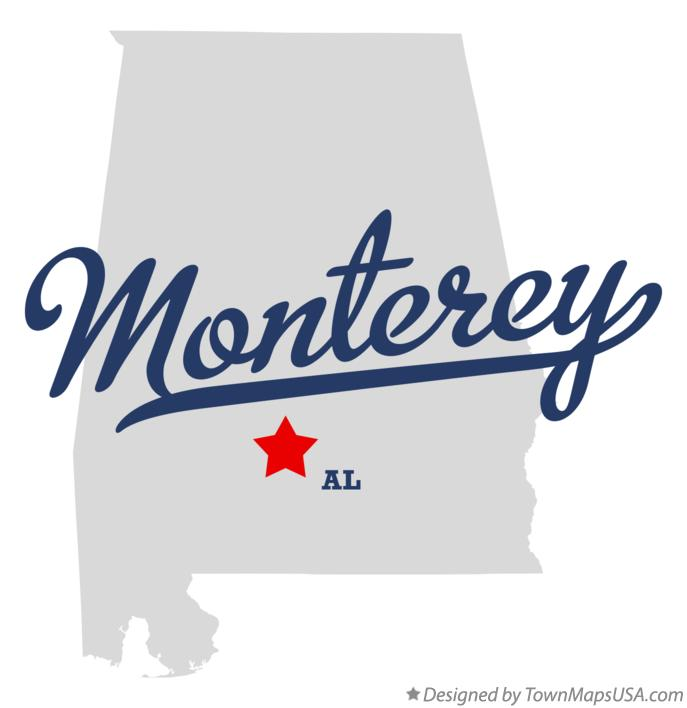 Map of Monterey Alabama AL