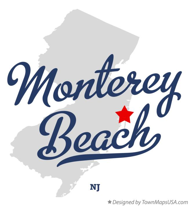 Map of Monterey Beach New Jersey NJ