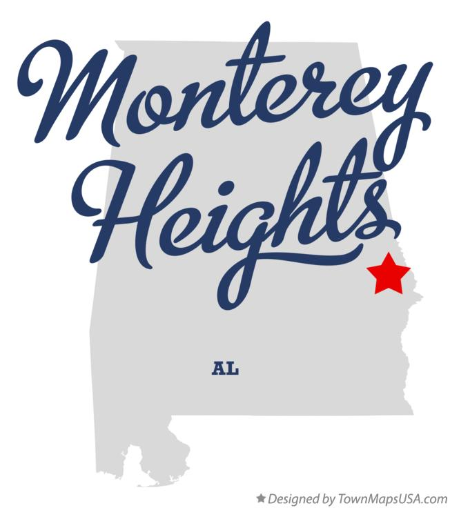 Map of Monterey Heights Alabama AL