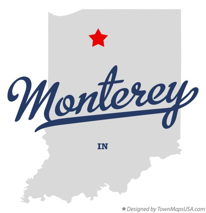 Map of Monterey Indiana IN