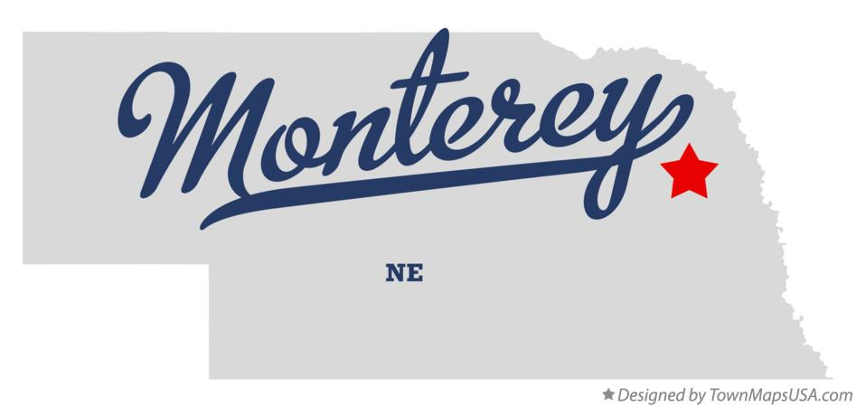 Map of Monterey Nebraska NE