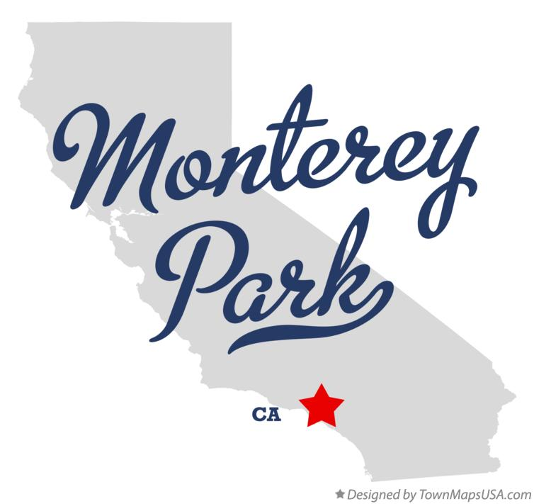 Map of Monterey Park California CA