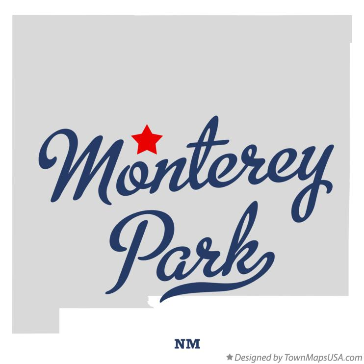 Map of Monterey Park New Mexico NM