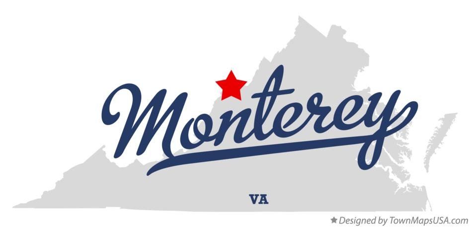 Map of Monterey Virginia VA