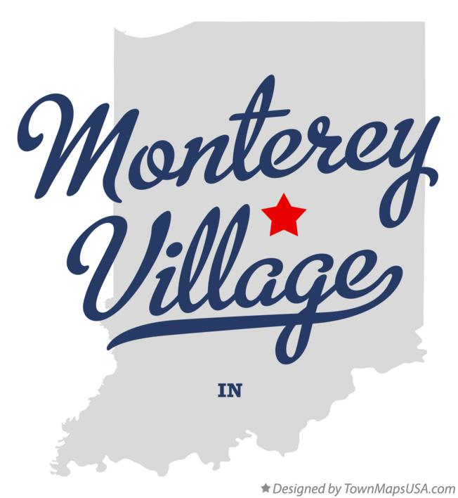 Map of Monterey Village Indiana IN