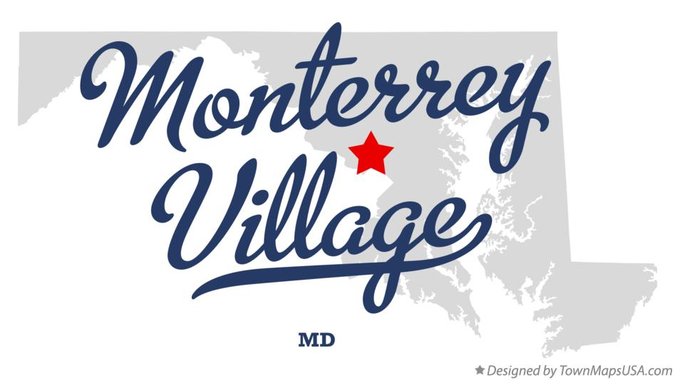 Map of Monterrey Village Maryland MD