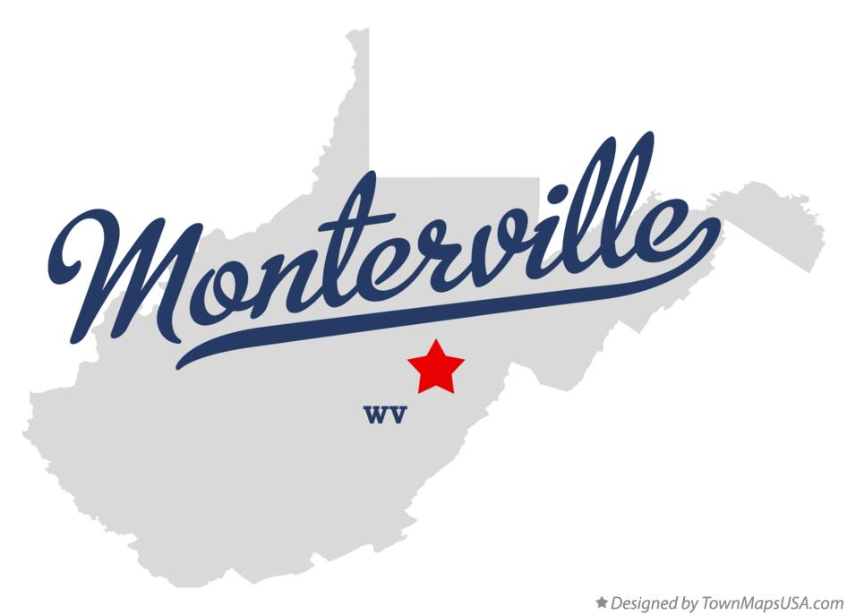 Map of Monterville West Virginia WV